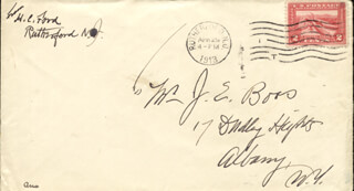 HENRY CLAY FORD - AUTOGRAPH ENVELOPE SIGNED 04/29/1913