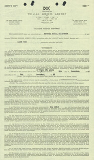 GLENN FORD - CONTRACT SIGNED 01/06/1949 CO-SIGNED BY: ANN ROSENTHAL