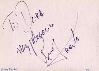 RUDY TRONTO - AUTOGRAPH NOTE SIGNED CIRCA 1971