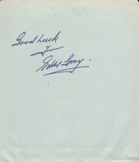 EDDIE MONSEWER GRAY - AUTOGRAPH SENTIMENT SIGNED