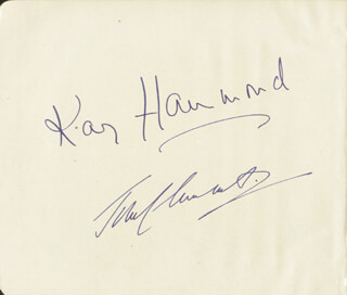 KAY HAMMOND - AUTOGRAPH CO-SIGNED BY: JOHN CLEMENTS