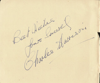 CHARLES W. HARRISON - AUTOGRAPH SENTIMENT SIGNED