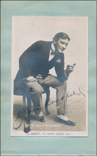 W. LOUIS BRADFIELD - AUTOGRAPHED SIGNED PHOTOGRAPH