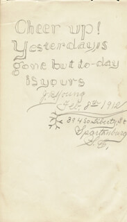 JOSEPH B. YOUNG - AUTOGRAPH QUOTATION SIGNED 02/08/1912