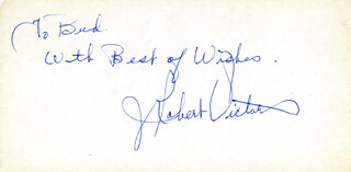 J. ROBERT VICTOR - AUTOGRAPH NOTE SIGNED