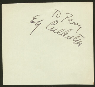 ELY CULBERTSON - INSCRIBED SIGNATURE
