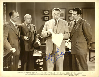 ROLAND WINTERS - AUTOGRAPHED SIGNED PHOTOGRAPH
