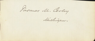Autographs: THOMAS MCINTYRE COOLEY - CLIPPED SIGNATURE