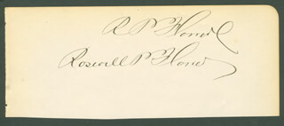 MAYOR ROSWELL P. FLOWER - AUTOGRAPH