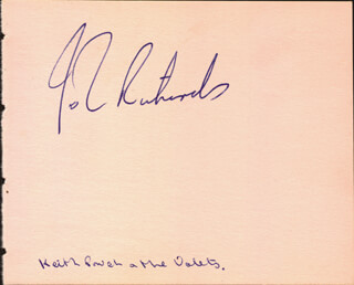 RON RICHARDS - AUTOGRAPH