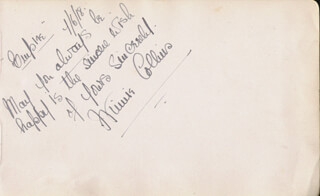 WINNIE COLLINS - AUTOGRAPH SENTIMENT SIGNED 04/06/1918 CO-SIGNED BY: THE TWO BOBS (BOB ADAMS), THE TWO BOBS (BOB ALDEN), THE TWO BOBS