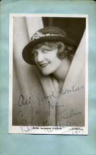 BLANCHE TOMLIN - AUTOGRAPHED SIGNED PHOTOGRAPH 1917