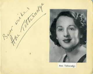ANN TITHERADGE - AUTOGRAPH SENTIMENT SIGNED CO-SIGNED BY: LETITIA STEPHENSON