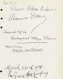 Autographs: CLEMENCE (WINIFRED ASHTON) DANE - SIGNATURE(S) CO-SIGNED BY: ELEANOR ROBSON BELMONT