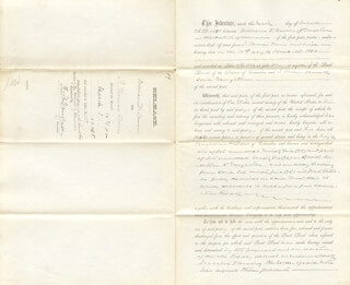 FREDERICK DOUGLASS - DEED SIGNED 03/03/1885 - HFSID 88083
