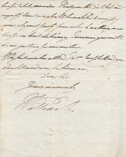 Autographs: KING WILLIAM IV - AUTOGRAPH LETTER SIGNED