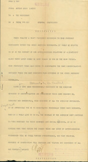 PRESIDENT HARRY S TRUMAN - DOCUMENT SIGNED CIRCA 1951