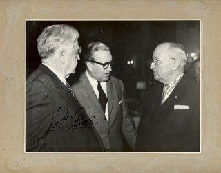PRESIDENT HARRY S TRUMAN - AUTOGRAPHED SIGNED PHOTOGRAPH CO-SIGNED BY: JOHN L. LEWIS
