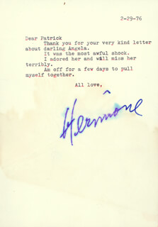 HERMIONE GINGOLD - TYPED LETTER SIGNED 02/29/1976