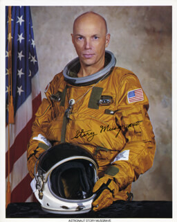 STORY MUSGRAVE - PRINTED PHOTOGRAPH SIGNED IN INK