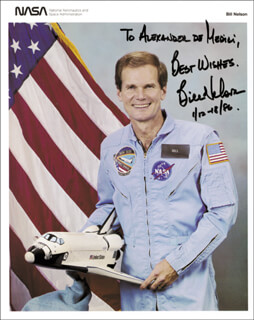 BILL NELSON - AUTOGRAPHED INSCRIBED PHOTOGRAPH