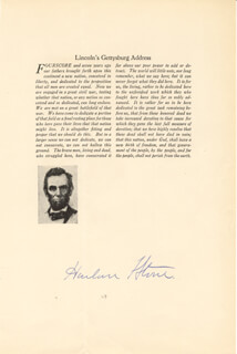 Autographs: CHIEF JUSTICE HARLAN F. STONE - TYPESCRIPT SIGNED