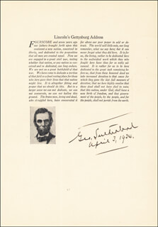 Autographs: ASSOCIATE JUSTICE GEORGE SUTHERLAND - TYPESCRIPT SIGNED 04/03/1934
