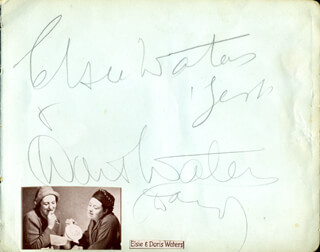 GERT & DAISY - AUTOGRAPH CO-SIGNED BY: DORIS WATERS, ELSIE WATERS