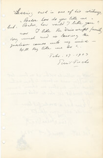 Autographs: EMIL FUCHS - AUTOGRAPH NOTE SIGNED 02/27/1923 CO-SIGNED BY: NENA FALES PECK
