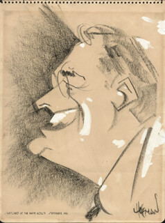 IRVING HOFFMAN - CARICATURE SIGNED CIRCA 1941