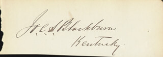 Autographs: JOSEPH CLAY S. BLACKBURN - SIGNATURE(S)