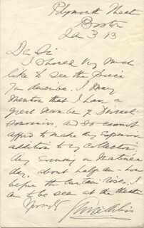GEORGE ARLISS - AUTOGRAPH LETTER SIGNED 01/03/1913