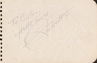 EDDIE ROCHESTER ANDERSON - INSCRIBED SIGNATURE IN CHARACTER CO-SIGNED BY: WALTER PIDGEON