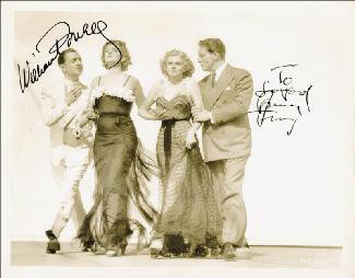 LIBELED LADY MOVIE CAST - AUTOGRAPHED INSCRIBED PHOTOGRAPH CIRCA 1936 CO-SIGNED BY: SPENCER TRACY, WILLIAM POWELL