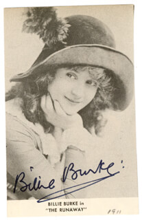 BILLIE BURKE - MAGAZINE PHOTOGRAPH SIGNED