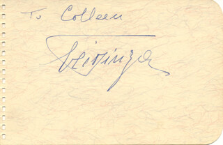 EZIO PINZA - INSCRIBED SIGNATURE