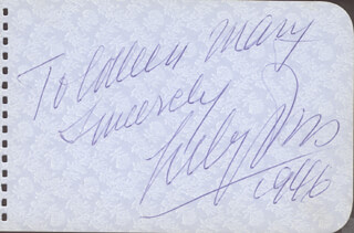 LILY PONS - AUTOGRAPH NOTE SIGNED 1946