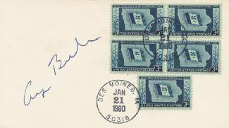 PRESIDENT GEORGE H.W. BUSH - ENVELOPE SIGNED CIRCA 1980