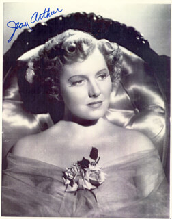 Autographs: JEAN ARTHUR - PHOTOGRAPH SIGNED