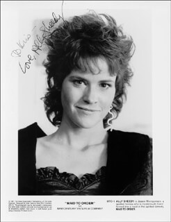 ALLY SHEEDY - AUTOGRAPHED INSCRIBED PHOTOGRAPH