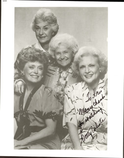 BETTY WHITE - AUTOGRAPHED INSCRIBED PHOTOGRAPH