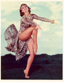CYD CHARISSE - AUTOGRAPHED SIGNED PHOTOGRAPH 1988