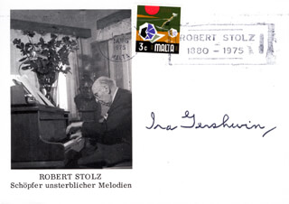 IRA GERSHWIN - COMMEMORATIVE COVER SIGNED