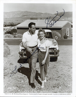 WHERE DO WE GO FROM HERE? MOVIE CAST - PRINTED PHOTOGRAPH SIGNED IN INK CIRCA 1955 CO-SIGNED BY: JUNE HAVER, FRED MacMURRAY
