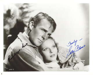 HELLO, EVERYBODY! MOVIE CAST - AUTOGRAPHED SIGNED PHOTOGRAPH CIRCA 1933 CO-SIGNED BY: RANDOLPH SCOTT, SALLY BLANE