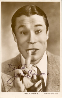 JOE E. BROWN - PICTURE POST CARD SIGNED