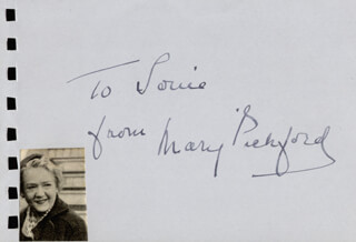 MARY PICKFORD - AUTOGRAPH NOTE SIGNED CO-SIGNED BY: RICHARD NEY