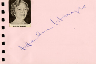 HELEN HAYES - AUTOGRAPH CO-SIGNED BY: BARRY NELSON