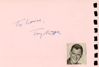 TONY RANDALL - INSCRIBED SIGNATURE CO-SIGNED BY: ANNA MARIA ALBERGHETTI
