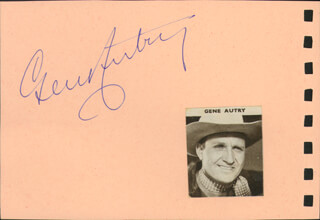 Autographs: GENE AUTRY - SIGNATURE(S) CO-SIGNED BY: HILLARY BROOKE
